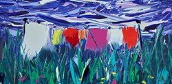 A Good Drying Day by Duncan MacGregor - Original Painting on Board sized 24x12 inches. Available from Whitewall Galleries